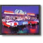 アメ車の集うドライブイン Al Mack's ルシンダルイス アメリカンブリキ看板 アメリカ 雑貨 アメリカン雑貨