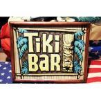 TIKI BAR ティキ・バー  木製フレーム付き ミニポスター ハワイ系 アメリカ 雑貨 アメリカン雑貨