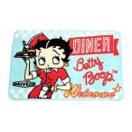 ベティ・ブープ フロアマット ダイナー柄 サイズ約65×43センチ Betty Boop アメリカ 雑貨 アメリカン雑貨