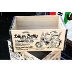 ベティちゃん 木箱 Lサイズ バイカー Betty Boop ウッドボックス