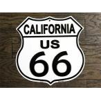 ルート66 まんま標識型 カリフォルニア州 フラットタイプ アメリカンブリキ看板