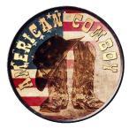 アメリカンカウボーイ AMERICAN COWBOY ラウンド 円形 アメリカンブリキ看板
