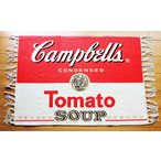 キャンベル フロアマット 玄関マット 約70×50センチ 綿100% アメリカン雑貨