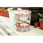 ガレージ柄 オイル缶のスツール GARAGE
