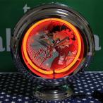 ベティ ブープ ダイナー柄 テーブルネオンクロック 置時計 絵になるインテリア時計