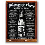 BEER 二日酔いを治す方法 Hangover Cures レトロシリーズ アメリカンブリキ看板 アメリカ 雑貨 アメリカン雑貨
