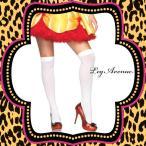 ニー高襪 - コスプレ 衣装 LEG AVENUE レッグアベニュー オーバーニーソックス LA 6672 ホワイト 正規品 ハロウィン 仮装 コスチューム
