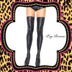 コスプレ 衣装 Xmas 仮装 コスチューム LEG AVENUE(レッグアベニュー)オーバーニーソックス:サイハイLA6901ブラック:ウエット / PD20