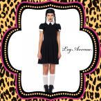 コスプレ衣装ハロウィン仮装コスチュームレディース2016新作:LEG AVENUE(レッグアベニュー)LA85562アダムスファミリー:ウェンズデー2点セット/BG20