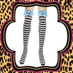 ショッピングニーハイ コスプレ 衣装 ハロウィン 仮装 コスチューム レディース VFTQ(ビフテキ)VF-OR-SOC001ニーハイソックストランプ&リボン
