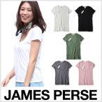 ジェームスパース Tシャツ WMJ3449 Relaxed Casual Tee Shirt 半袖 Uネック 雑誌掲載 JAMES PERSE レディース ジェームスパース 白 無地 ジェームスパース