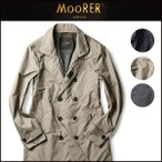 MOORER ダブルブレスト スプリングコート 春夏 MORANDI-KM  イタリア製 メンズ ムーレー 44464850 ダウン