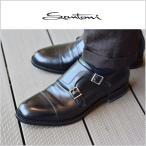 サントーニ ダブルモンク ストラップ レザーシューズ 紳士靴 ビジネス SANTONI イタリア製