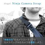 ダイアグナル diagnl カメラストラップ Ninja Camera Strap 38mm ニンジャカメラストラップ 一眼レフ用 Black Charcoal navy