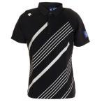 デサントゴルフ(DESCENTEGOLF) ゴルフ ポロシャツ メンズ CoolistD-Tec ライジングプリントシャツ DGMPJA38-BK00 (メンズ)