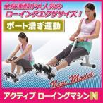 アクティブ ローイングマシン N ボート漕ぎ ローイングマシン ダイエット器具 シェイプアップ エクササイズ 腹筋 背筋 脚部 上腕部 痩せる
