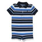 (ポロ ラルフローレン チルドレンズウェア)POLO RALPH LAUREN CHILDRENSWEAR ベビー 男の子 ショートオール Striped Cotton Polo Shortall ネイビー マルチ
