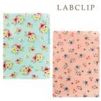 【LABCLIP/ラボクリップ】ブルーム 3ポケットクリアファイル A4 水彩 仕切り フラットケース 花柄 パステル LAB-52