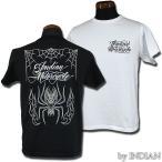 インディアンモーターサイクル 東洋 IM76982 半袖Tシャツ S/S PINSTRIPE TEE SHIRT WOLF SPIDER INDIAN MOTORCYCLE