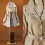 春コート (トレンチ スプリング)コート ステンカラ―  美スタイル スプリング コート 1015bj