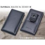スマホケース PDAIR レザーケース for AQUOS Xx 304SH ベルトクリップ付バーティカルポーチタイプ