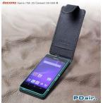 送料無料 PDAIR レザーケース for Xperia (TM) Z3 Compact SO-02G 縦開きタイプ