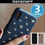 ショッピング星 iPhone X 用 mononoff Star Studs 805 for iPhone X /代引き不可/ 送料無料 星形スタッズ フラップ無しのシングルタイプ