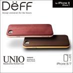 iPhone 7 用 HYBRID Case UNIO Wooden for iPhone 7 【送料無料】 iPhone iPhone7 iPhoneケース Deff ディ―フ 高級木材 ハイブリッドケース アルミバンパー