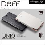 iPhone 7 Plus 用 HYBRID Case UNIO Genuine Leather for iPhone 7 Plus【送料無料】ケース Deff ディ―フ 手帳型 手帳 本革 スタンド機能