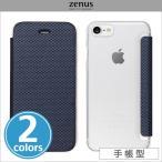 Zenus 背面クリア手帳型ケース Metallic  カバー iPhone7 アイフォン7 アイフォン