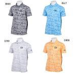 カッター バック メンズ ゴルフウェア ハニカムカモフラプリント 半袖ポロシャツ CGMLJA19 M-LL