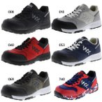 3E幅 テクシーワークス メンズ レディース プロテクティブスニーカー シューズ 紐靴 安全靴 作業靴 WX-0001 WX-0001K