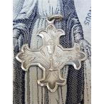 フランス アンティーク カトリック 銀製クロス ペンダントトップ 聖杯