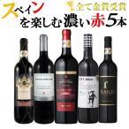 ワイン ワインセット 産地ごとに楽しもう スペイン産 赤ワイン 5本セット C 辛口 ワインセット 赤ワインセット 送料無料