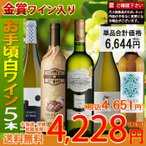 ワイン ワインセット 白ワインセット 5本 辛口 お手頃セット 送料無料 一部除外 お買い得 おまけ付き