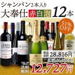 大奉仕 福袋 E 豪華シャンパン 2本入り 大満足の赤白泡12本 福袋セット ワイン 辛口 ワインセット ワイン福袋 送料無料