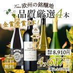 特売 おまけ付き ワイン ワインセット 4本 赤白 人気お手頃 辛口 送料無料 一部除外