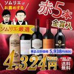 ワイン セット ワインソムリエおすすめ 赤ワインバラエティ5本セット 送料無料 ソムリエ厳選 フルボディ