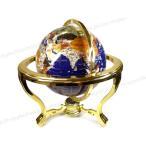 ショッピングZAKKA 数量限定品■ 高級インテリア 天然石 地球儀 34cm ゴールド×ブルー