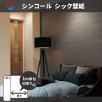壁紙 のり付き のりなし 品格のダークトーン シンコール ビッグエース BA6128-6129 モダン ブラック レザー調