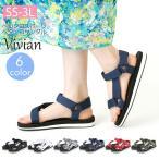 Vivian ヴィヴィアン ベルクロ スポーツ ペタンコ サンダル 低反発インソール 歩きやすい レディース 靴