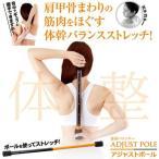 \国内正規品/ バランストレーニング アジャストポール 体幹 筋肉をほぐす ストレッチ バランス 美姿勢 運動    体幹バランサー アジャストポ