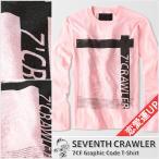 アメカジ/セブンスクローラー/メンズ ロンT ロングTシャツ 長袖/恋愛運上昇 正規品 ライトピンク