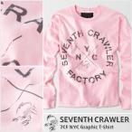 アメカジ/セブンスクローラー/メンズ ロンT ロングTシャツ 長袖/正規品 ライトピンク