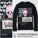 アメカジ/セブンスクローラー/メンズ ロンT ロングTシャツ 長袖/花柄 正規品 ブラック