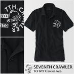 アメカジ/セブンスクローラー/メンズ ポロシャツ 半袖/正規品 ブラック