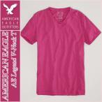 アメリカンイーグル/メンズ Tシャツ 半袖/Vネック 正規品 ピンク