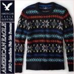 アメリカンイーグル / メンズ セーター ノルディック柄 / 正規品 ネイビー