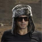 送料無料 毛皮帽子 ファー帽子 パイロットキャップ ロシア帽 メンズ 毛皮 ボア 防寒 キャップ
