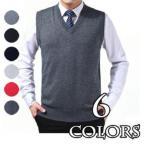 送料無料 メンズVネック ニットベスト ハイゲージニット 6カラー ビジネス 春服 無地 メンズファッション カジュアルシャツ トップス